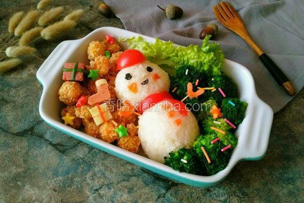 圣诞雪人饭团