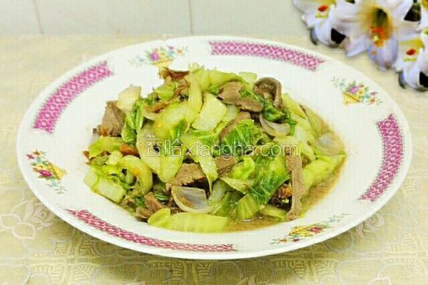 白菜炒猪肝
