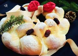 圣诞花环面包(酸奶波兰种)
