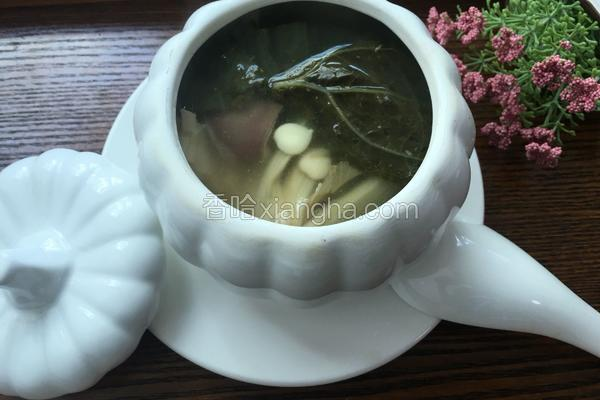 南北杏菜干瘦肉汤