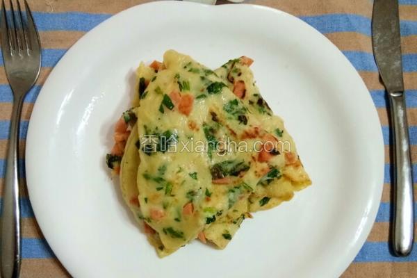 火腿蔬菜鸡蛋煎饼