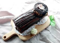 巧克力树桩蛋糕