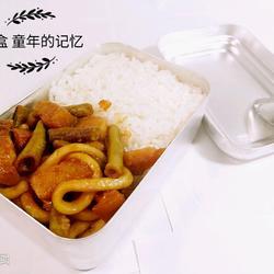 大食堂盒饭 红烧肉米饭一份