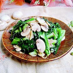 上海青炒口蘑
