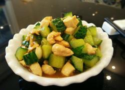黄瓜炒鸡丁