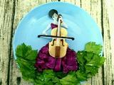 凉拌芹菜叶之大提琴女孩的做法[图]