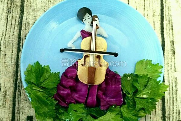 凉拌芹菜叶之大提琴女孩