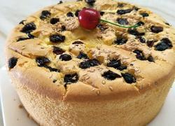 蓝莓芝麻戚风蛋糕