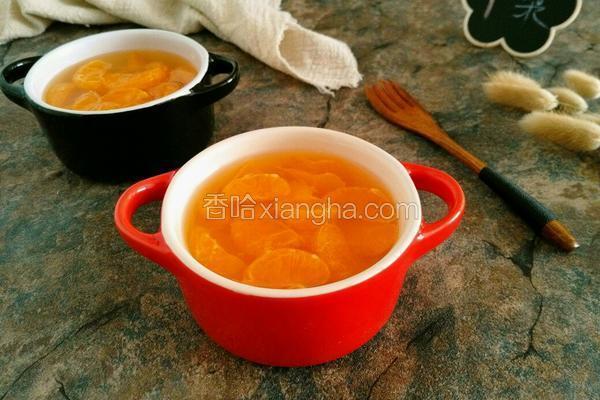 砂锅煲橘子罐头