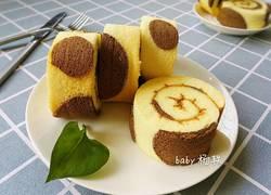 奶牛纹蛋糕卷
