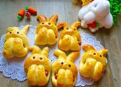 萌兔子酸奶香肠面包