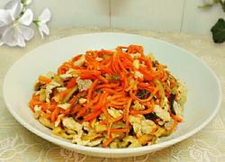 胡萝卜榨菜木耳丝炒肉