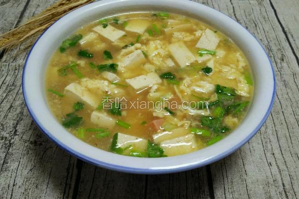 鸡蛋火腿豆腐汤
