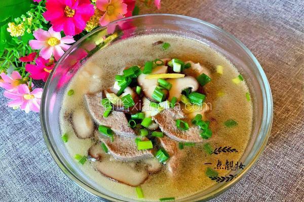 香菇肉片猪肝汤