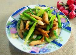青椒蒜苗炒鸡丝