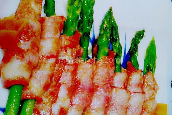 烤培根芦笋卷