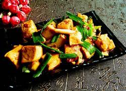 青蒜炒豆腐