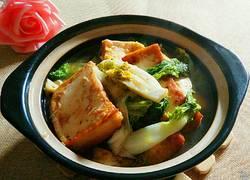 家常青菜豆腐