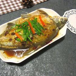 黄豆酱蒸边鱼