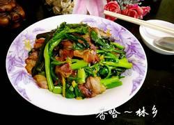 腊肉炒菜苔