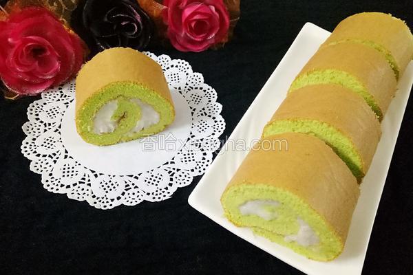 菠菜山药泥蛋糕卷