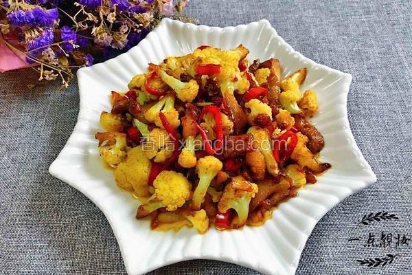 蒸鱼豉油烧花菜