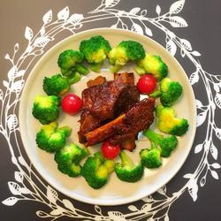 年夜饭之4-色味兼具无油健康的12345排骨的做法[图]