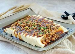 肉末盖浇豆腐