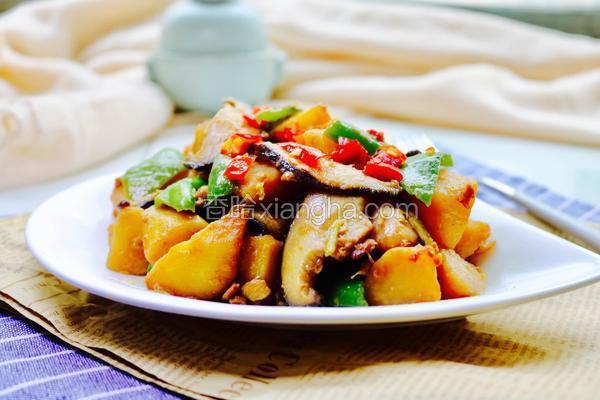 酱烧香菇土豆块