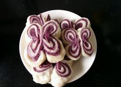 紫薯蝴蝶馒头