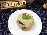 蚝油排骨香菇腊肠饭的做法[图]