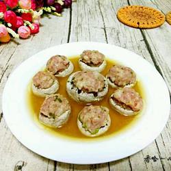 蒸蘑菇酿肉