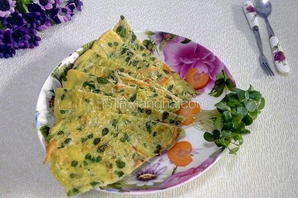 香椿苗鸡蛋饼