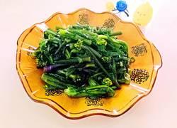清炒红油菜苔