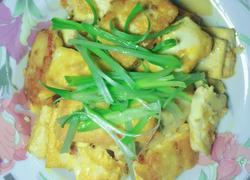 煎鸡蛋豆腐