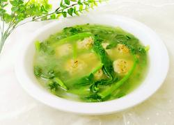 菠菜丸子汤