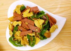 青椒鸡蛋炒火腿