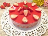 草莓酸奶慕斯蛋糕(八寸)的做法[图]