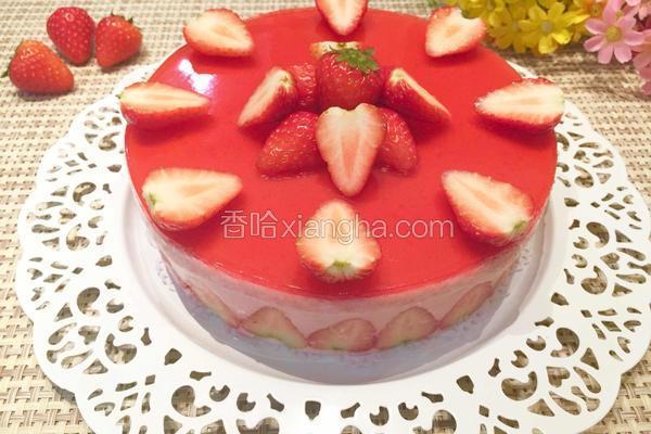 草莓酸奶慕斯蛋糕(八寸)
