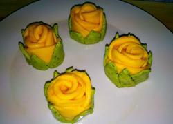 绿叶玫瑰花卷(一)