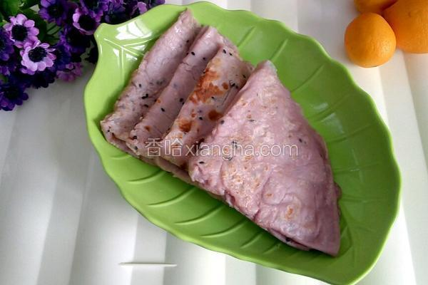 紫薯牛奶煎饼