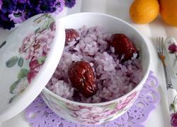 紫薯牛奶糯米饭