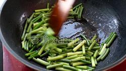 蒜苔炒肉的做法图解20