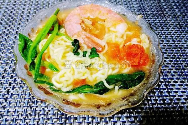 五彩鲜虾减肥面