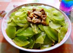 瘦肉炒莴苣片