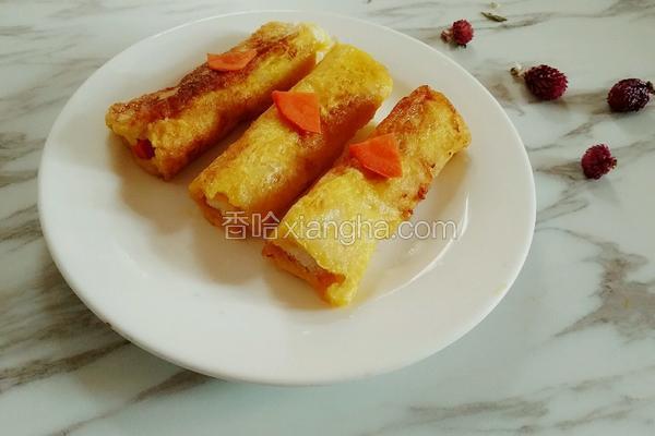 鸡蛋胡萝卜土司卷