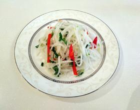 香菜拌白萝卜丝