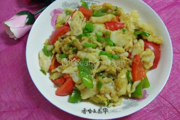 彩椒炒鱼片