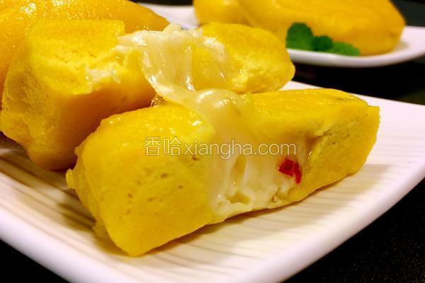 芝心姜黄糯米煎饼