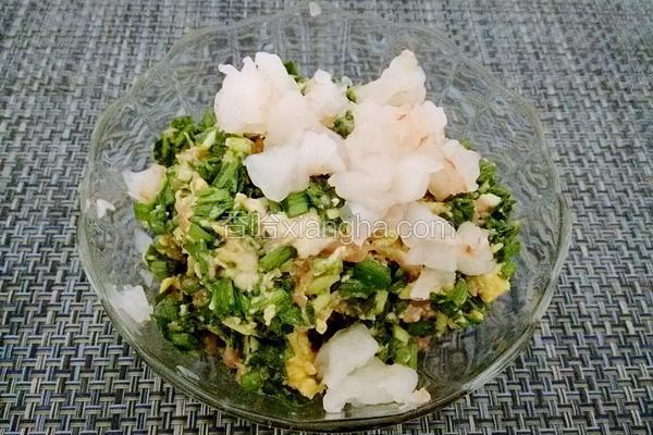 鲜虾韭菜鸡蛋饺子馅
